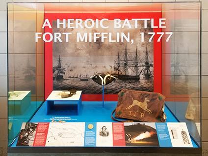 photo of Fort Mifflin battle exhibit