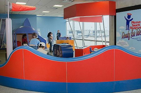 a photo of the Kids Corner play area in the airport