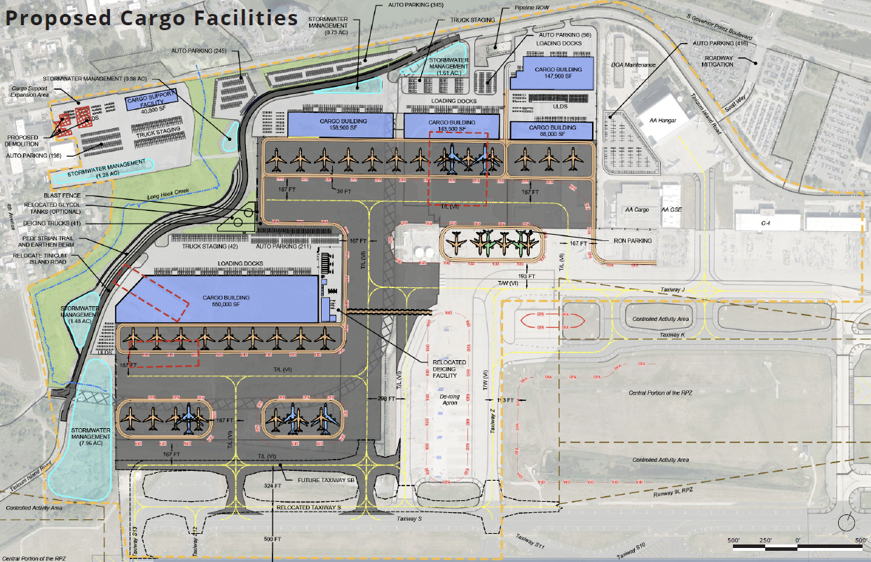 engineering drawings of cargo expansion