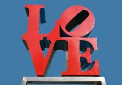 the LOVE statue in Philadelphia