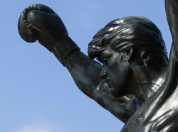 A photo of the Rocky statue